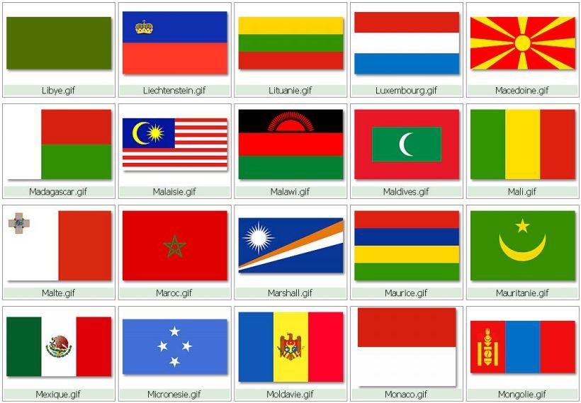 Imgenes de 194 banderas reconocidas por DRAPODOU NACIONES V 4.0